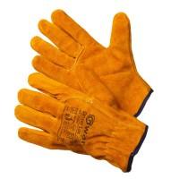 Перчатки желтые цельноспилковые короткие (Драйвер Люкс)