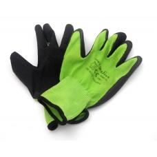 Перчатки зеленые прорезиненные