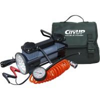 Компрессор CITY-UP Doble Piston AC-619 (двухпоршневой) с фонарем