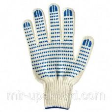 Перчатки трикотажные 7 ниток ПВХ, 7,5 кл